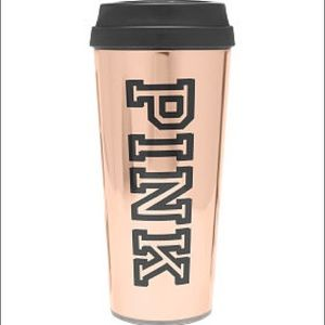 🆕 VS PINK NATION Sexy TO GO MUG 16 Oz Rose Gold